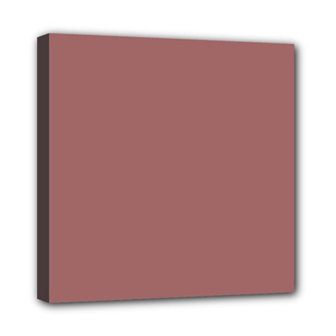 Blush Gold Coppery Pink Solid Color Mini Canvas 8  X 8  by PodArtist