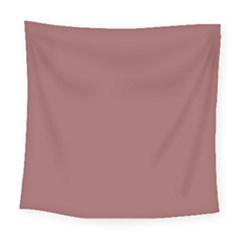Blush Gold Coppery Pink Solid Color Square Tapestry (large) by PodArtist