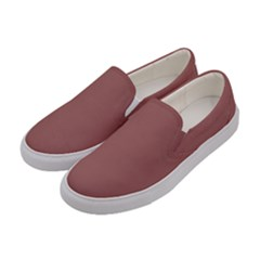 Blush Gold Coppery Pink Solid Color Women s Canvas Slip Ons by PodArtist