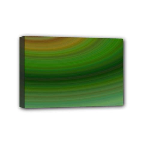 Green Background Elliptical Mini Canvas 6  X 4  by Nexatart
