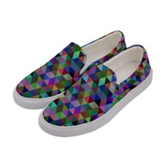Triangle Tile Mosaic Pattern Women s Canvas Slip Ons by Nexatart