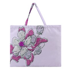 Bouquet Flowers Plant Purple Zipper Large Tote Bag by Nexatart
