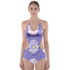 Daisy Flowers Wild Flowers Bloom Cut Out One Piece Swimsuit