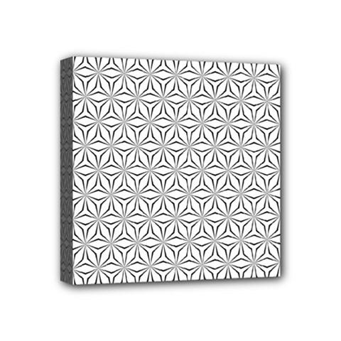 Seamless Pattern Monochrome Repeat Mini Canvas 4  X 4  by Nexatart