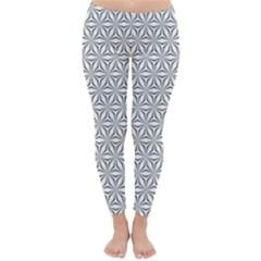 Seamless Pattern Monochrome Repeat Classic Winter Leggings by Nexatart