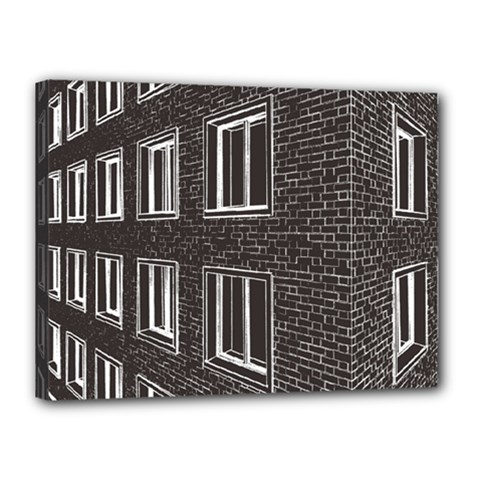 Graphics House Brick Brick Wall Canvas 16  X 12  by Nexatart
