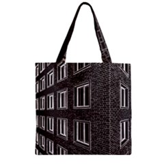 Graphics House Brick Brick Wall Zipper Grocery Tote Bag by Nexatart