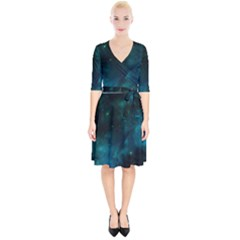Space All Universe Cosmos Galaxy Wrap Up Cocktail Dress by Nexatart