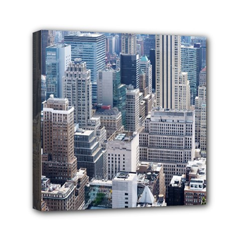 Manhattan New York City Mini Canvas 6  X 6  by Nexatart