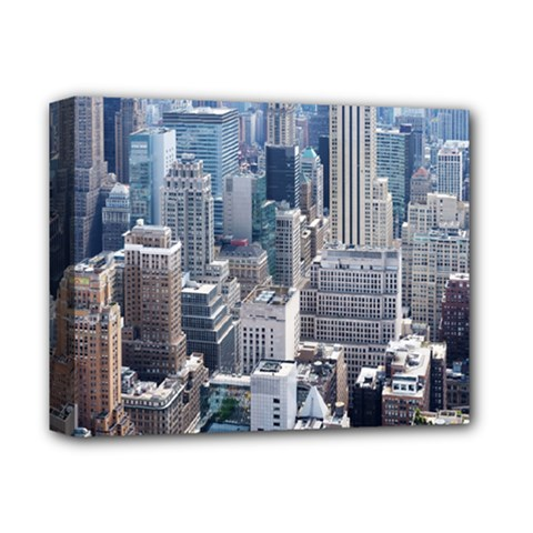 Manhattan New York City Deluxe Canvas 14  X 11  by Nexatart