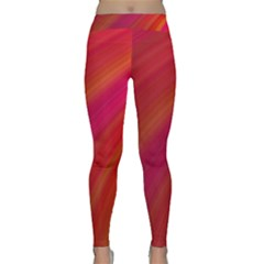 Abstract Red Background Fractal Classic Yoga Leggings by Nexatart