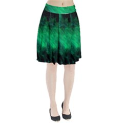 Green Space All Universe Cosmos Galaxy Pleated Skirt by Nexatart