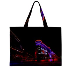 Moscow Night Lights Evening City Zipper Mini Tote Bag by Nexatart