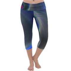 Gloom Background Abstract Dim Capri Yoga Leggings by Nexatart