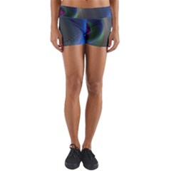 Gloom Background Abstract Dim Yoga Shorts by Nexatart
