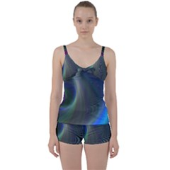 Gloom Background Abstract Dim Tie Front Two Piece Tankini by Nexatart