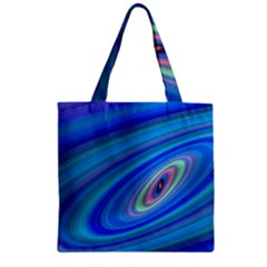 Oval Ellipse Fractal Galaxy Zipper Grocery Tote Bag by Nexatart