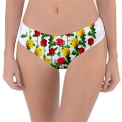 Rose Pattern Roses Background Image Reversible Classic Bikini Bottoms