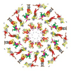 Golfers Athletes Straight Umbrellas by Nexatart