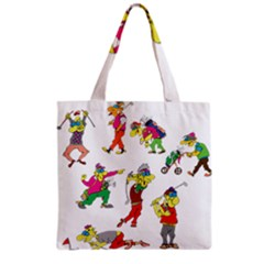 Golfers Athletes Grocery Tote Bag by Nexatart