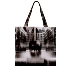 Black And White Hdr Spreebogen Zipper Grocery Tote Bag by Nexatart