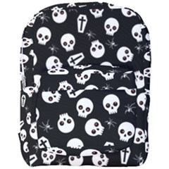 Skull, Spider And Chest    Halloween Pattern Full Print Backpack by Valentinaart