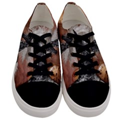 Steampunk, Awesome Steampunk Horse With Clocks And Gears In Silver Men s Low Top Canvas Sneakers