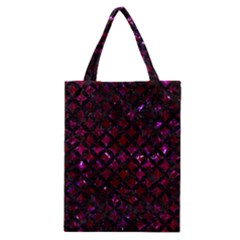 Circles3 Black Marble & Burgundy Marble (r) Classic Tote Bag by trendistuff