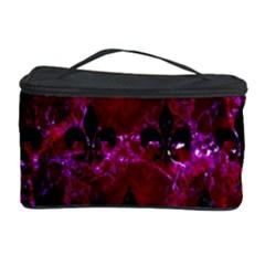 Royal1 Black Marble & Burgundy Marble Cosmetic Storage Case by trendistuff