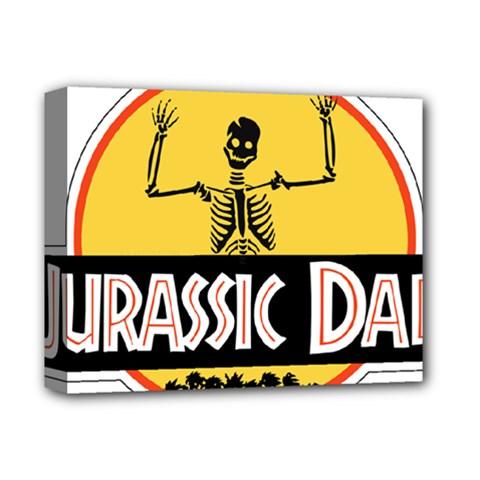 Jurassic Dad Dinosaur Skeleton Funny Birthday Gift Deluxe Canvas 14  X 11  by PodArtist