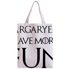 Targaryens Have More Fun   Blondes Have More Fun Black Zipper Classic Tote Bag by PodArtist