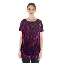 Skin3 Black Marble & Burgundy Marble (r)skin3 Black Marble & Burgundy Marble (r) Skirt Hem Sports Top by trendistuff