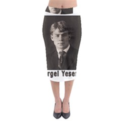 Sergei Yesenin Midi Pencil Skirt by Valentinaart