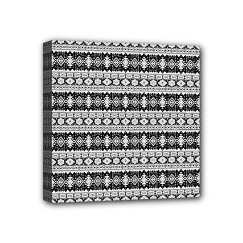 Fancy Tribal Border Pattern 17b Mini Canvas 4  X 4  by MoreColorsinLife