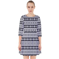 Fancy Tribal Border Pattern 17b Smock Dress