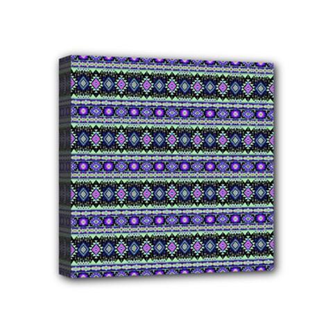 Fancy Tribal Border Pattern 17d Mini Canvas 4  X 4  by MoreColorsinLife