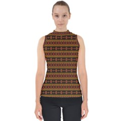 Fancy Tribal Border Pattern 17e Shell Top by MoreColorsinLife