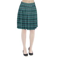Fancy Tribal Border Pattern 17g Pleated Skirt by MoreColorsinLife