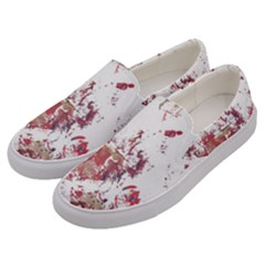 Abstrak Reds Men s Canvas Slip Ons by AllOverIt