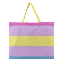 Apo Stripes Zipper Large Tote Bag by AllOverIt