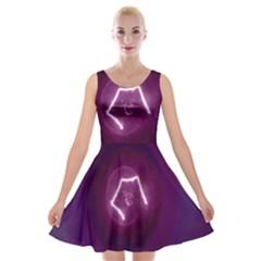Purple Light  Velvet Skater Dress by NSTP