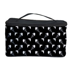 Fish Bones Pattern Cosmetic Storage Case by Valentinaart