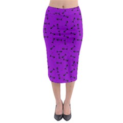 Fish Bones Pattern Midi Pencil Skirt by ValentinaDesign