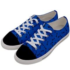 Fish Bones Pattern Women s Low Top Canvas Sneakers by ValentinaDesign