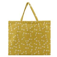 Fish Bones Pattern Zipper Large Tote Bag by ValentinaDesign