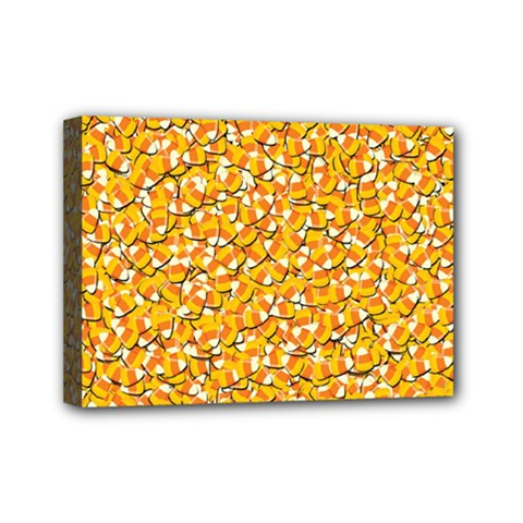 Candy Corn Mini Canvas 7  X 5  by Valentinaart
