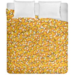 Candy Corn Duvet Cover Double Side (california King Size) by Valentinaart
