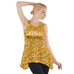 Candy Corn Side Drop Tank Tunic by Valentinaart