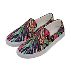 Dreamy Floral 7 Women s Canvas Slip Ons by MoreColorsinLife