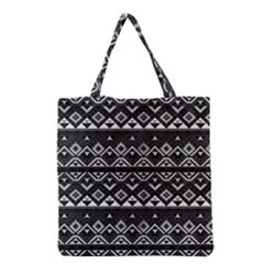 Aztec Influence Pattern Grocery Tote Bag by ValentinaDesign